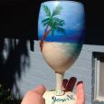 Waimanalo Beach on Wine Glass